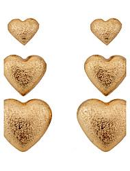 Недорогие -Серьги-гвоздики Сплав Сердце Простой стиль В форме сердца Серебряный Золотой Бижутерия Для вечеринок Повседневные 1 комплект