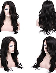 cheap -Human Hair Glueless Full Lace / Glueless Lace Front / Full Lace Wig Body Wave Wig 130% / 150% Natural Hairline / African American Wig / 100% Hand Tied Women's Short / Medium Length / Long Human Hair