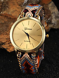 cheap -Women's Quartz Wrist Watch Hot Sale Fabric Band Bohemian Fashion Multi-Colored