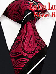 cheap -Men's Tie  Red Paisley  100% Silk Business New Wedding