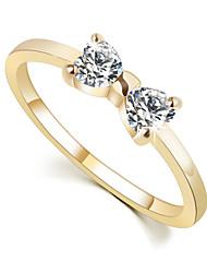 baratos -Mulheres Anéis de Casal - Liga Com Laço Pedras dos signos 6 / 7 / 8 Para Casamento / Festa / Diário / Cristal