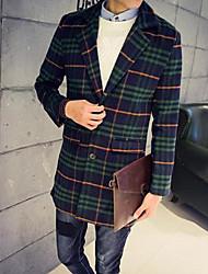 お買い得  -男性用 コート ブレザー-クラシック・タイムレス シック・モダン チェック 格子柄 フォーマル モダンスタイル