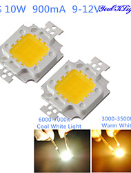 YouOKLight® DIY 10W 820-900LM 900mA Warm White Light / Cool White Light Integrated LED Module (DC 9-12V)