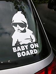 мода прекрасный ребенок на борту Предупреждающая табличка отражающей водонепроницаемый окна автомобиля наклейки виниловые цвет черный