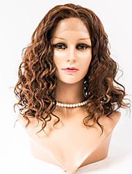 cheap -16inch Lace Front Hair Wigs Mongolian Virgin Hair 100% Human Hair Lace Front Wavy Style Wigs for Women