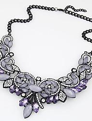 cheap -Women's Statement Necklace  -  Luxury, European, Fashion Gold, Purple Necklace For