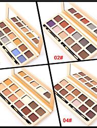 baratos -12 Sombra para Olhos / Pós Olhos Gloss Colorido Longa Duração Natural Maquiagem para o Dia A Dia / Maquiagem Esfumada Maquiagem Cosmético / Mate