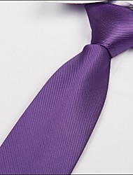 cheap -Light Purple Twill Necktie Polyester Silk Arrow Jacquard Tie