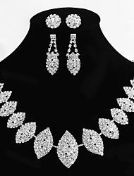 cheap -Women's Alloy Wedding/Party Jewelry Set 2 Pairs of Rhinestone Earrings 1 Crystal Necklace