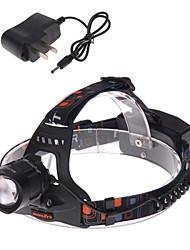 1 Pandelamper Cykellys Forlygte LED 1200 lm 3 Tilstand Cree XM-L T6 med oplader Zoombar Justerbart Fokus Genopladelig Vandtæt Slag Kant