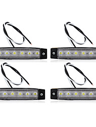 4 x Car Truck Boat Bus Van Indicator 6 LED Light Signal Lamp Waterproof Safe New