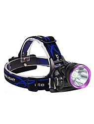 cheap -3Mode Headlamps / Bike Lights LED 2000lm 3 Mode with Batteries and Chargers Impact Resistant / Rechargeable / Waterproof Camping / Hiking