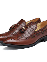 cheap -Men's Shoes Office & Career / Party & Evening / Casual Loafers / Slip-on Black / Brown / Burgundy