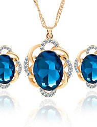 cheap -Women's Crystal Crystal Jewelry Set Earrings Necklace - Black Blue Jewelry Set For Wedding Party Daily Casual