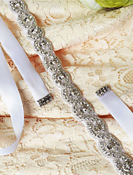 cheap -Satin Wedding Party/ Evening Dailywear Sash With Rhinestone Crystal Beading