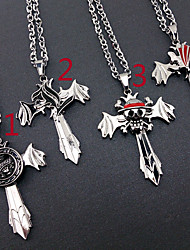 Jewelry Inspired by One Piece Cosplay Anime Cosplay Accessories Necklace Silver Alloy Male