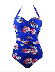Women's Sexy Plus Size Print Straped One-pieces Swimwear Bikini (Random Print)