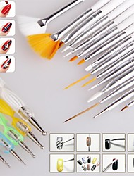 cheap -1set Nail Brush Nail Art Design Painting Dotting Detailing Pen Brushes Bundle Tool Kit Set Nail Styling Tools(20pcs/set)