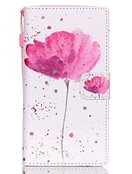 cheap -Case For Huawei Huawei P8 Lite P8 Lite Huawei Case Card Holder Wallet with Stand Full Body Cases Flower Hard PU Leather for Huawei P8