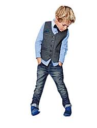 Dreng Indstiller Ensfarvet,Bomuldsblanding Alle årstider Langærmet Tøjsæt