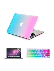 "Case for Macbook Air 11"" Macbook Pro 13""/15"" Color Gradient ABS Material + Keyboard Cover + Screen protector"