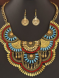 cheap -Women's Jewelry Set Luxury Statement Jewelry Fashion European Party Daily Casual Synthetic Gemstones Resin Alloy Earrings Necklaces