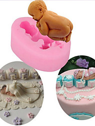 cheap -Baby Silicone Soap Fondant Mould Chocolate Sugarcraft Cake Mold Baking Tool DIY