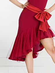 economico -Balli latino-americani Pantaloni Per donna Da esibizione Elastene Drappeggi 1 pezzo Gonna