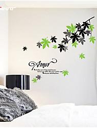 Недорогие -ботанический / Рождество / Натюрморт / Мода / Продукты питания / Праздник / Пейзаж / фантазия Наклейки Простые наклейки , Vinyl stickers