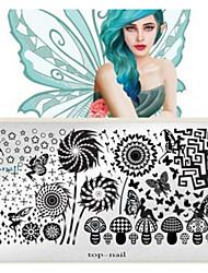 billige -1 pcs Negle Smykker Nail Stamping Tool Smuk Negle kunst Manicure Pedicure Daglig Mode / Negle smykker