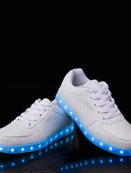 cheap -LED Light Up Shoes, Women's Shoes USB charging Flat Heel Comfort Round Toe Fashion Sneakers Casual Black