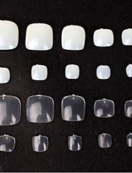 manicure pé unha do pé suprimentos remendo unhas falsas branco opcional (1 pacote = 50 peças)