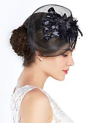 Pena de Tulle Birdcage Veils Headpiece Estilo Feminino Clássico