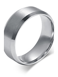 cheap -Men's Titanium Steel Ring Silver Simple Party / Daily / Casual 1pc Band Rings