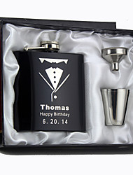 cheap -Personalized Stainless Steel Hip Flasks Wedding Gifts For bridegroom