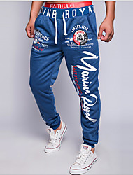 Men's Mid Rise Micro-elastic Active Chinos Sweatpants Pants,Street chic Active Loose Letter