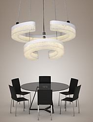 "LED Crystal Pendant Light, The Letter ""C"" Shape Modern Lamp Two Rings"