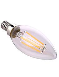 YWXLight® E12 LED Candle Lights A60(A19) 4 COB 640 lm Warm White Natural White Decorative AC 110-130 V