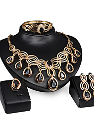 cheap -Women's Jewelry Set Jewelry Set - 18K Gold Plated Gold