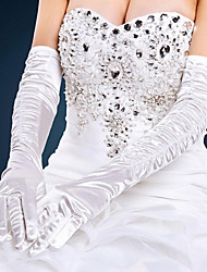 cheap -Satin Opera Length Glove Bridal Gloves