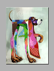 cheap -Single Modern Abstract Pure Hand Draw Ready To Hang The Dog Decorative  Oil Painting