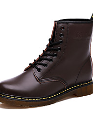 cheap -Women's Shoes  Flat Heel Round Toe Boots Casual Black / Brown / Burgundy