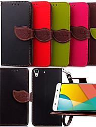 feuilles karzea SNAP ™ PU cas complète du corps avec Coque arrière en TPU pour l'honneur de tenir Huawei 4a / y6 (couleurs assorties)
