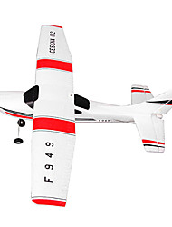 cheap -WLtoys F949 3CH 2.4G Cessna 182 Sky King 2.4G Radio Control Micro RC Airplane RTF Red/White Drone