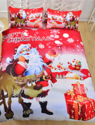 Bedding Christmas Party Duvet Cover Set New Year Sheets Qualified Cozy Quilt Cover Twin Full Queen Size