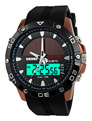 Skmei® Men's Dual Time Zone Soloar Multifunction Sports Wrist Watch 50m Waterproof Assorted Colors Cool Watch Unique Watch Fashion Watch