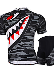 Nuckily Cycling Jersey with Shorts Men's Women's Unisex Short Sleeves Bike Shorts Jersey Padded Shorts/Chamois Tops Bottoms Clothing Suits