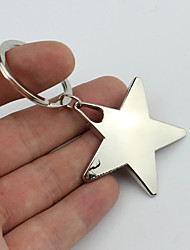 cheap -Smiling Five-pointed Star Style Keychain with Soft Plastic Material