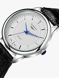 Masculino Relógio de Pulso Quartzo Impermeável Couro Banda Preta Marrom Preto Castanho Escuro