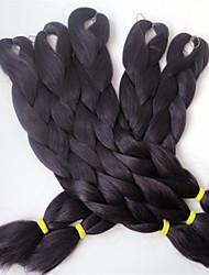 24pc / lotto delle estensioni dei capelli della treccia della crochet del crochet del cappello di 100kg di kanekalon jumbo